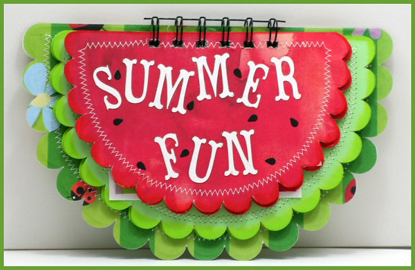 Summer Fun Watermelon Altered Album